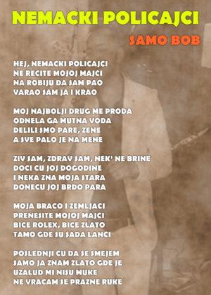 nemacki-policajci-samo-bob-tekst-pesme