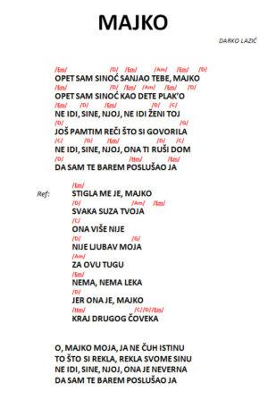 majko-darko-lazic-tekst-sa-akordima-akordi-za-pesmu
